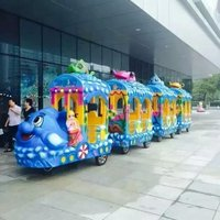 New Design Electric tourism Car Amusement Child Train with Trackless