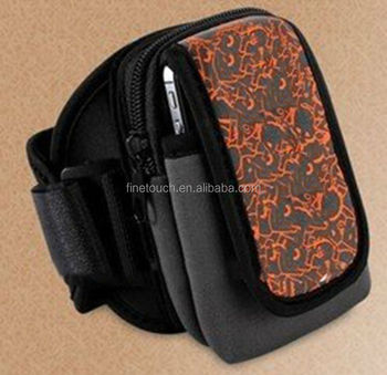 neoprene armband phone case with printing