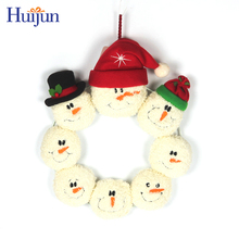 Indoor Christmas decoration wreaths 12 inch with snowman