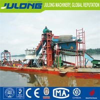 China gold mining equipment and bucket chain gold dredger/gold dredger machine/gold trommel for sale