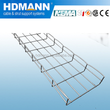 Electrical galvanised basket cable tray support system