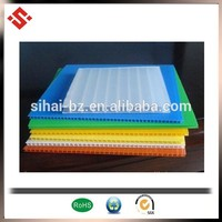 corona colorful PP hollow sheet corrugated plastic Corrugate plastic sheet Fluted Plastic Sheet Polypropylene Board hot sale