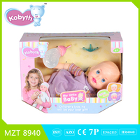 Hot sell 14 inch lovely sleeping baby doll with music and light two models mixed
