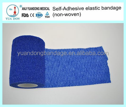 YD70046Ventilated colored Non-woven Self-adhesive elastic bandage for first aid