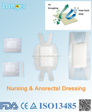 wound dressing for surgery trauma and anorectal negative pressure wound therapy