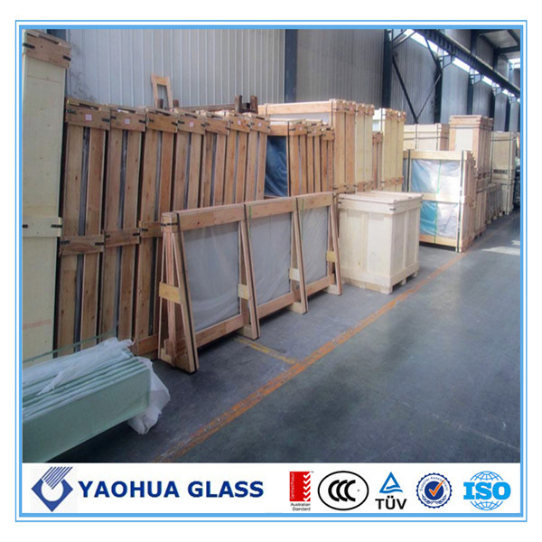 Tempered silk screen ceramic glass