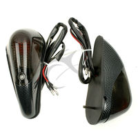 Carbon Flush Mount Aero Turn Signals For Kawasaki Ninja EX 250 250R 1988-2013 motorcycle