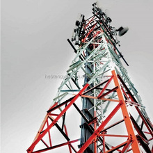 Hot dip Galvanized Microwave Antenna Telecom TV Tower