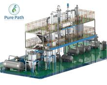 Crude waste oil recycling equipment used engine oil refining machine