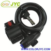 J216 retractable steel cable lock for bicycle