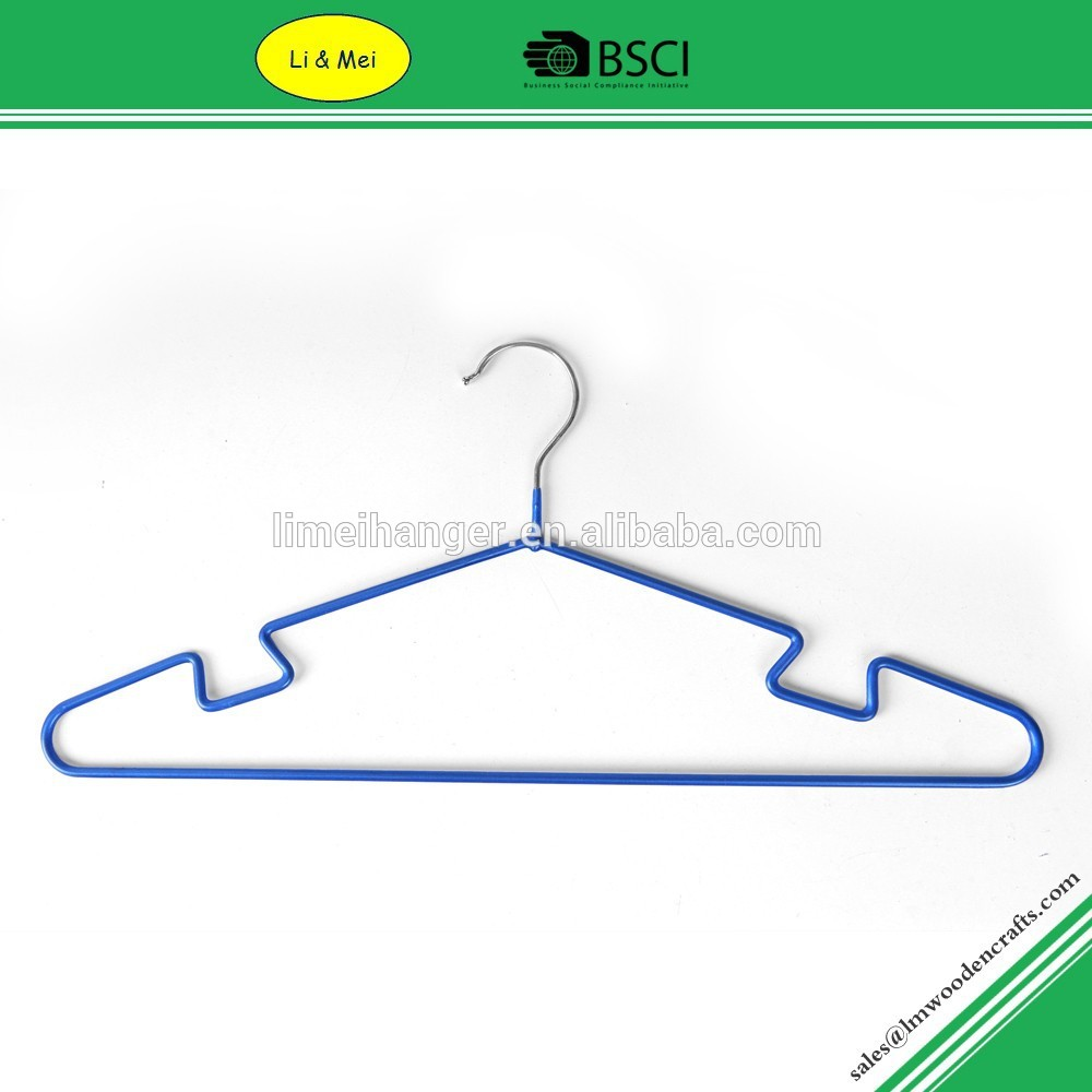 LM1039 Cheap Wholesale PVC Coated Laundry Metal Clothes Hangers