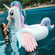 2018 Unicorn Inflatable Pool Floats Holds Up Fast Inflates and Deflates Indoor Outdoor Swimming Pool Recreation (Colorful)