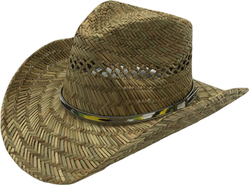 T60-43Wholesale New Style Summer Cowboy Rush Straw Hat For Mens