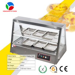 glass food display/chicken warmer cabinet/food heater showcase for sale