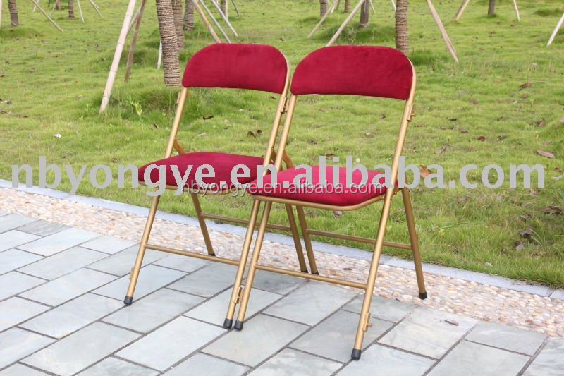 padded metal folding chair
