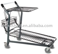 Metal Utility stocking cart carries up to 800 pounds