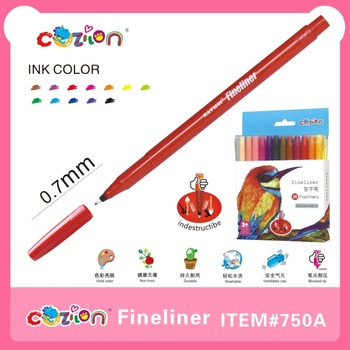 plastic fineline indestructible nibs fineliner #750A