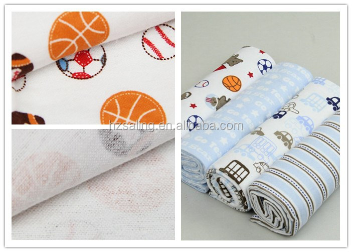 Cheap Wholesale Softextile Baby Blanket Comfortable 100% Cotton Flannel Baby Receiving Blankets