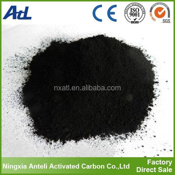 Wood activated charcoal powder for blanching