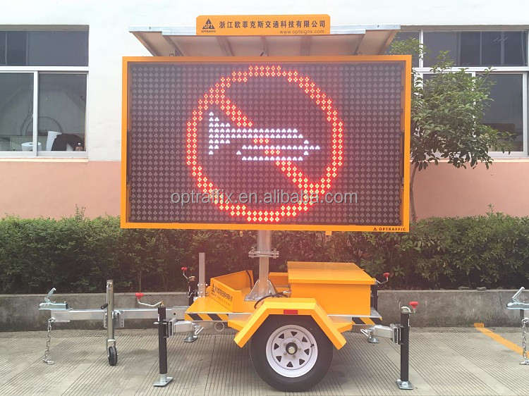 EN 12966 Smart City Radar Based Speed Limit Highway Variable Message VMS Signs Board , VMS Signs Buy Traffic Control
