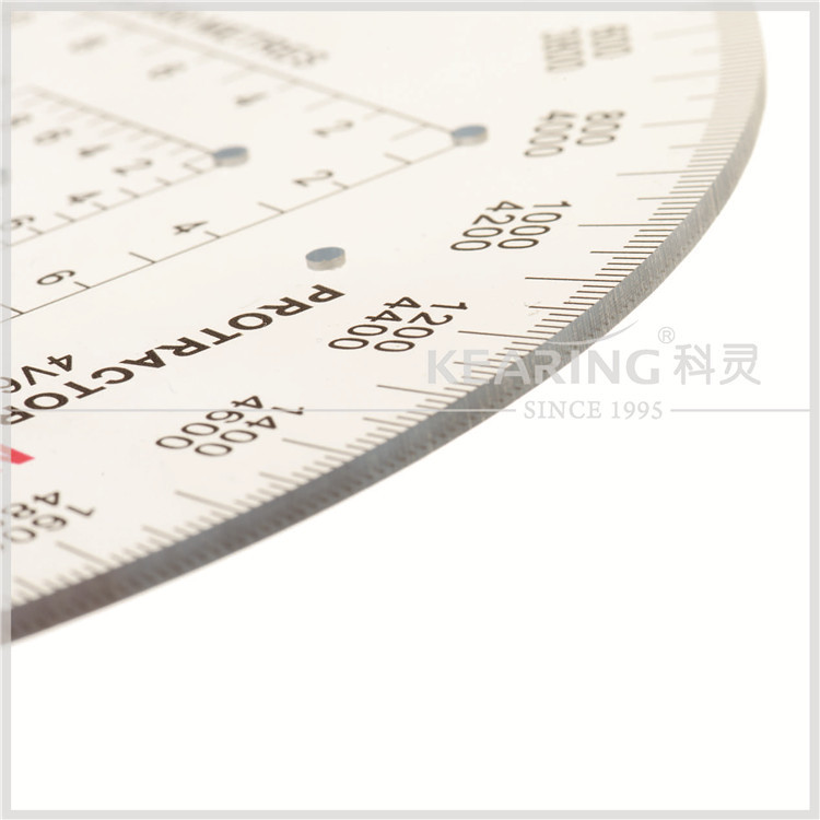 6inch Military protractor pilot protractor,Military Protractor,half moon protractor 0-360 degree#KMP-1
