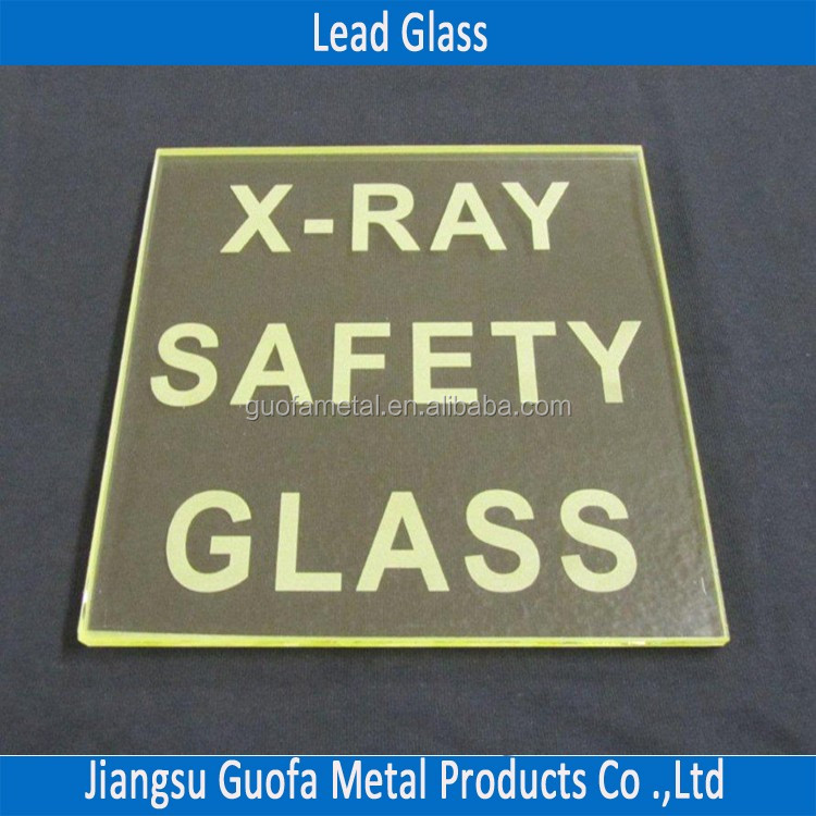 Machined 22mm 23mm 24mm Radiation Shielding Lead Glass For X-ray Rooms