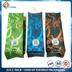 Valve Coffee Bag With Coffee Design In Seal Edges Style