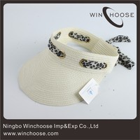 Wide Bill 100% Paper Straw Sun Visor Cap 49202-36