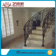 China top sale cheap morden used wrought iron stair railing parts/lowes wrought iron railings/outdoor metal stairs railing