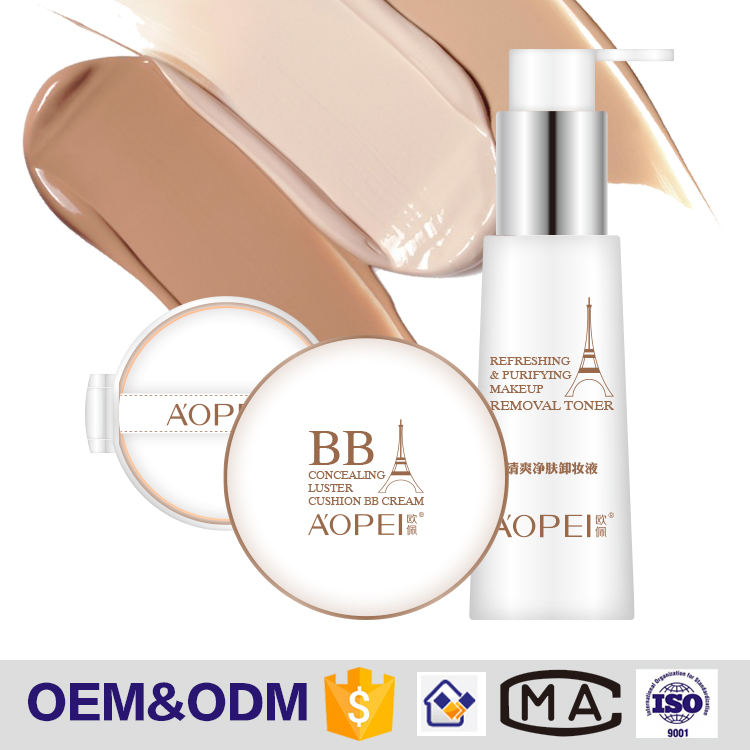 Hot selling nourishing and repairing BB cream air cushion set with 3pcs