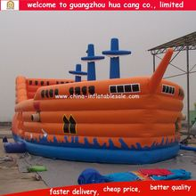 Best Sale Pirate Ship Inflatable Fun City, hot giant inflatable slide for kids and adults