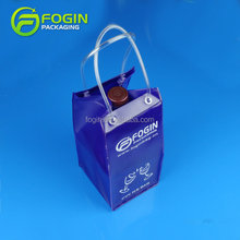 Custom Cheap Plastic Clear 1.5L PVC EVA Wine Cooler Bag