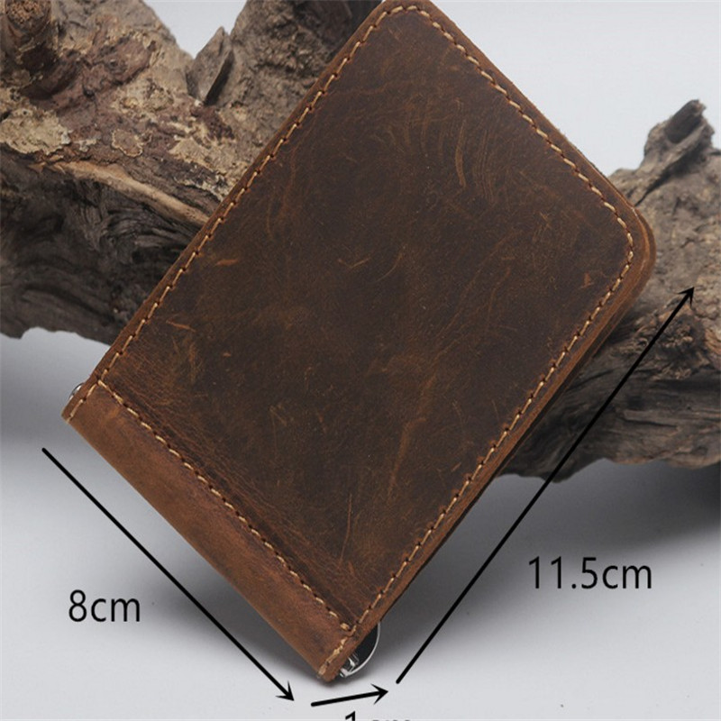 Promo customized magnet PU leather money clip with credit card holder