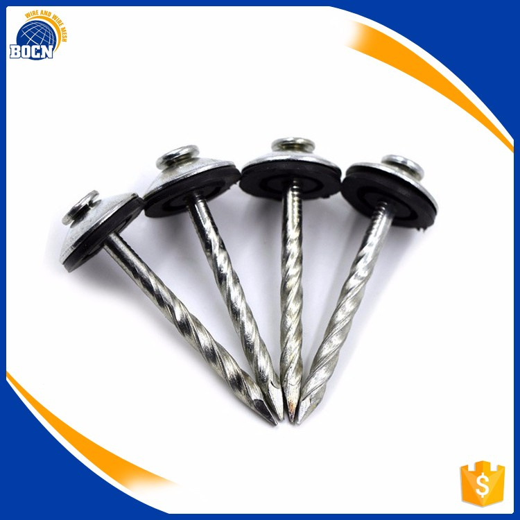 BOCN china hardened galvanized steel roofing nails umbrella head machine