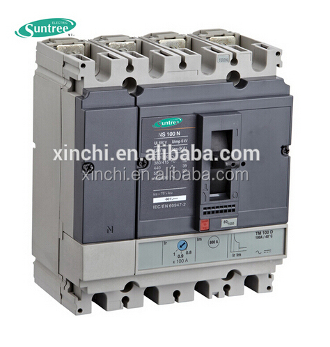 NSX series 160A 4P MCCB residual current circuit breaker