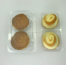 disposable plastic cake bread tray /container/box