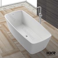 Resin Modern Design Stone Poly Marble Bath tubs