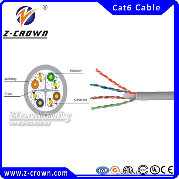 Electric wire 4 pair 23awg utp cat 6 cable color code