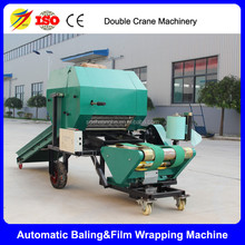 Full automatic farm use round silage wrapper and baler for sale