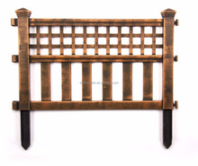 small antique wooden bamboo metal wrought iron steel vinyl iron pvc plastic outdoor yard garden cheap border fence panels