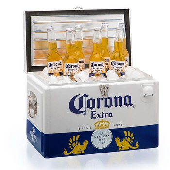 Metal Cool Corona Extra Retro Beer Cooler Box
