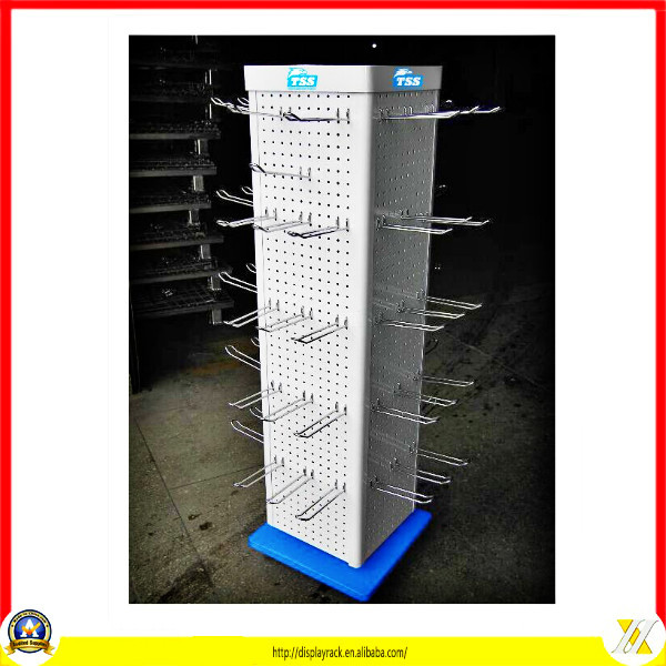 Supermarket Floor Stand Rotating Pegboard 120 Pairs Sunglass Display
