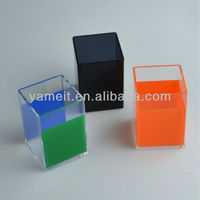 Clear Square Pen Display Colorful High