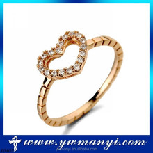 Factory direct new Korean exquisite hollow heart diamond ring with hot time style R0405