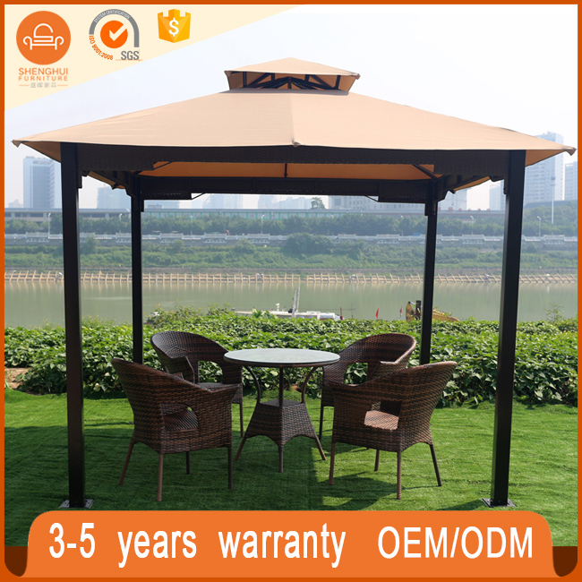Fashion Metal Frame Waterproof Fabric Gazebo Canopy Tent Outdoor For Gaden Patio