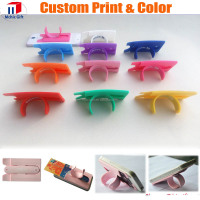 Factory supplier wholesale cheap silicone phone card holder with stand