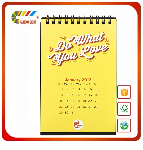 Wholesale englisnh acabic calendar desk calender binging ring