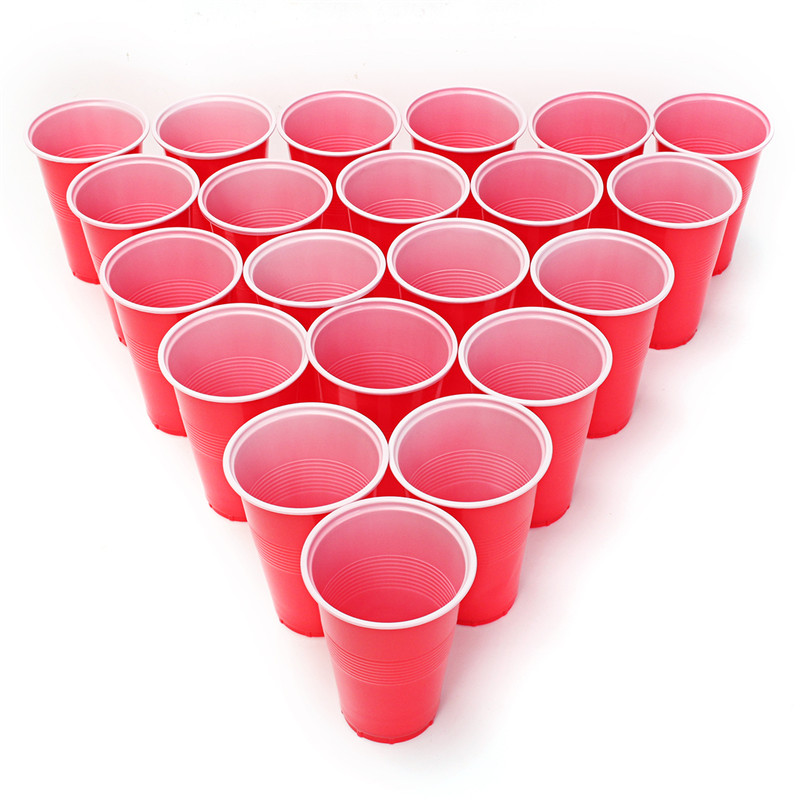 Drinking Game Party Game Beer Pong Game Kit 24 Pong Balls and 24 Red Cups