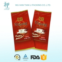 top grade biodegradable food grade materials PET/VMPET/PE aluminum foil coffee bag