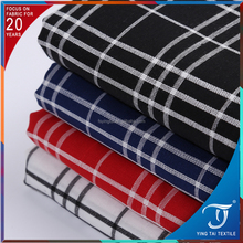 Export quality breathable plaid check gingham 100 cotton fabric for clothing